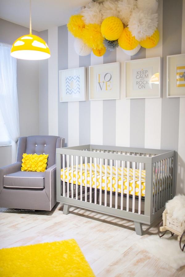colore cameretta grigio giallo bianco