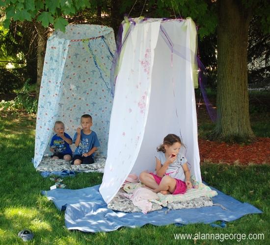 tenda hula hoop giardino bambini