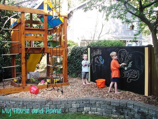 parete lavagna per bambini aperto