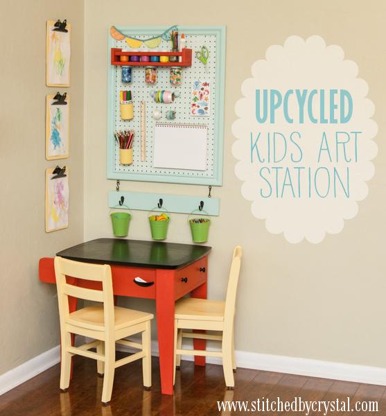 angolo creativo bambini mobili riciclati