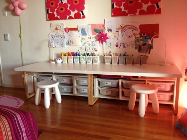 angolo creativo bambini ikea tavolini