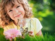 Child in spring