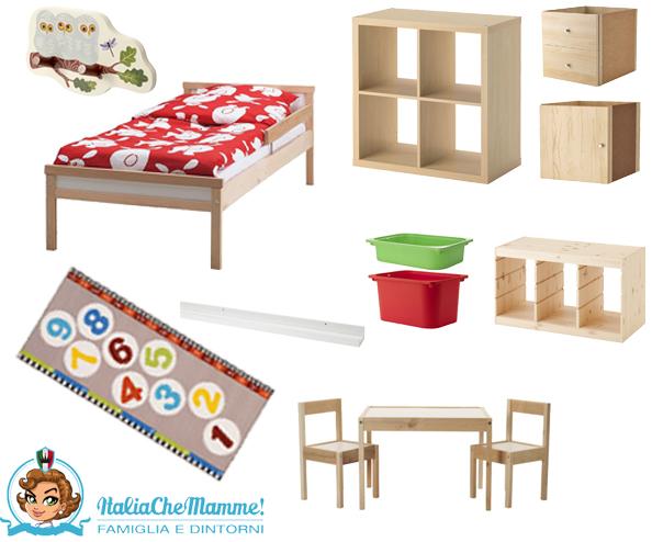 Una cameretta montessori approved italia che mamme - Ikea letto montessori ...