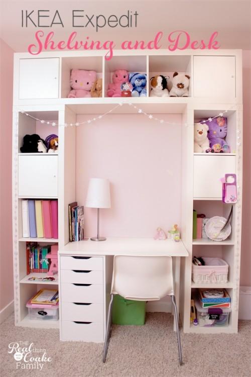 libreria a ponte con scrivania per bambini