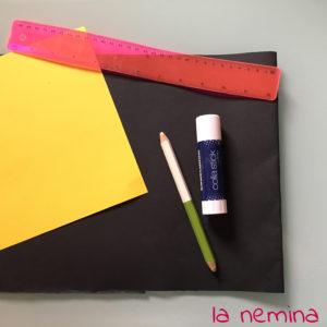 cartoncino, matita e colla