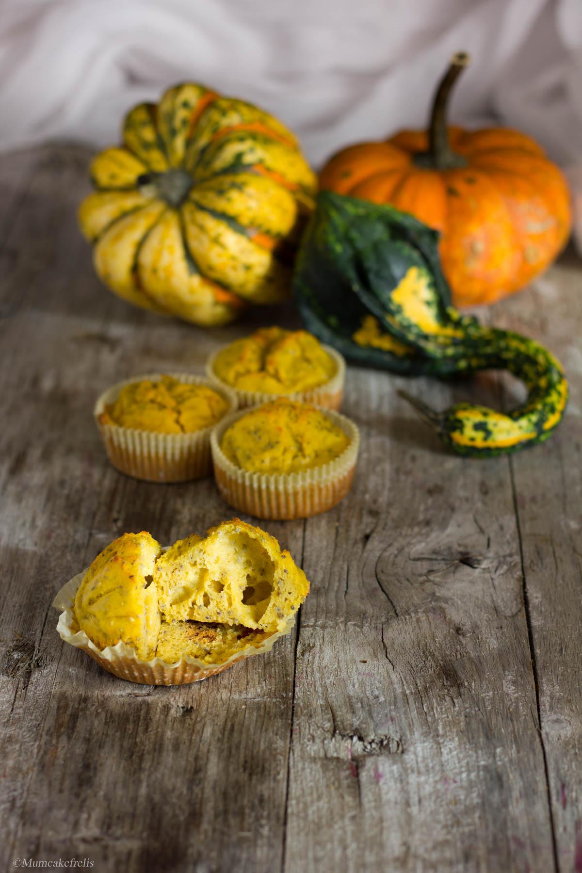 muffin di zucca salati