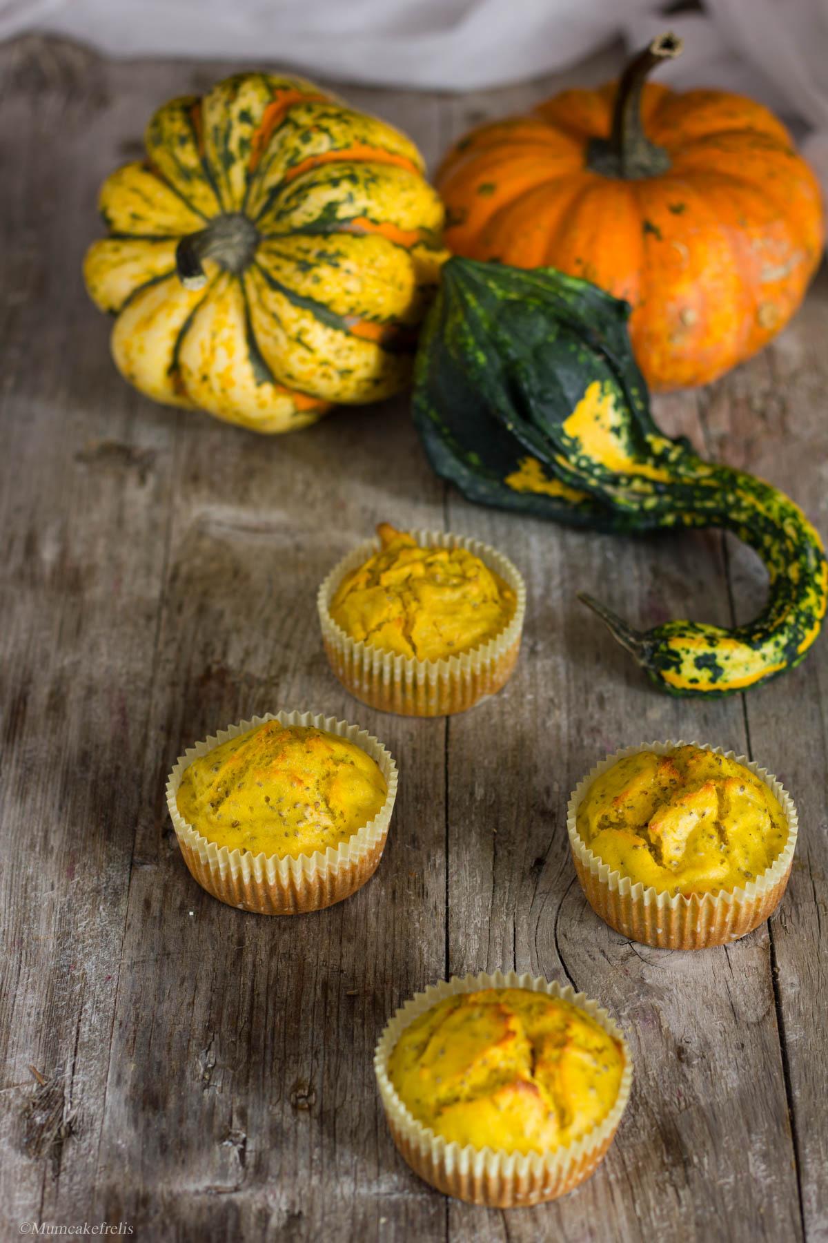 muffin zucca e ricotta