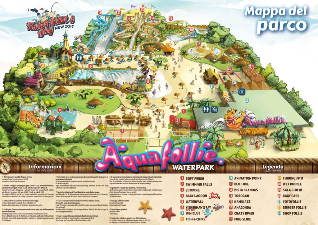 mappa aquafollie Caorle